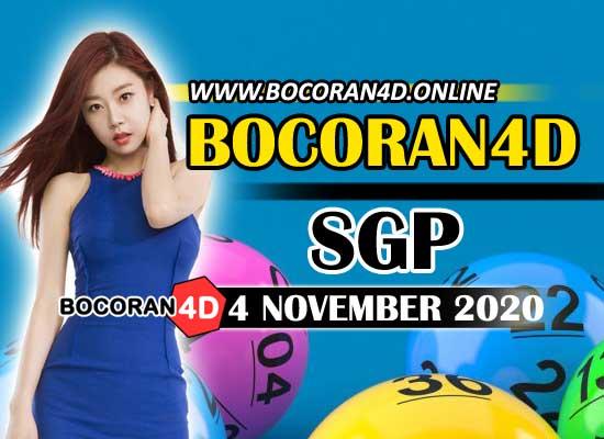 Bocoran Togel 4D SGP 4 November 2020