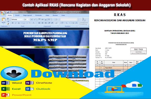 Contoh Aplikasi RKAS (Rencana Kegiatan dan Anggaran Sekolah) Format Microsoft Excel