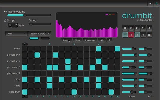 Drumbit chrome music extensions