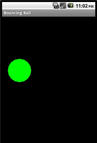 GreenMan: Android Animation App - Bouncing Ball