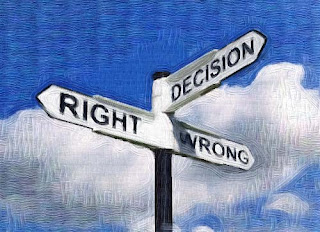 Decision Sign Wrong/right