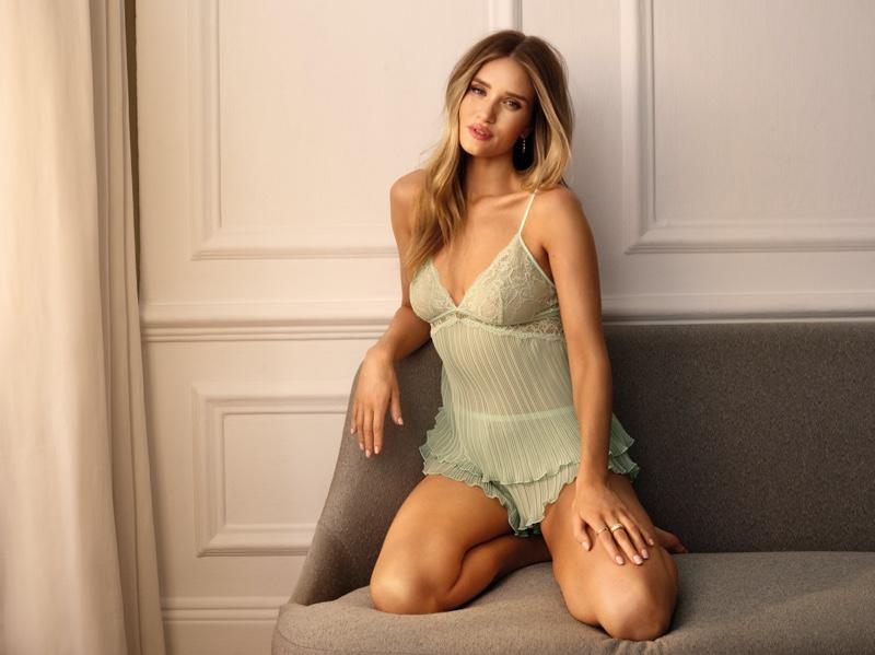 Rosie Huntington-Whiteley stars in her Marks & Spencer lingerie collaboration for summer 2021.