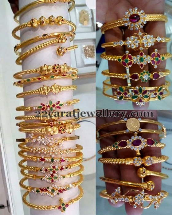 5 To 6 Grams Gold Bangles Jewellery Designs