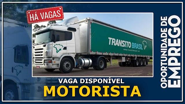 Transito Brasil está contratando Motorista Truck