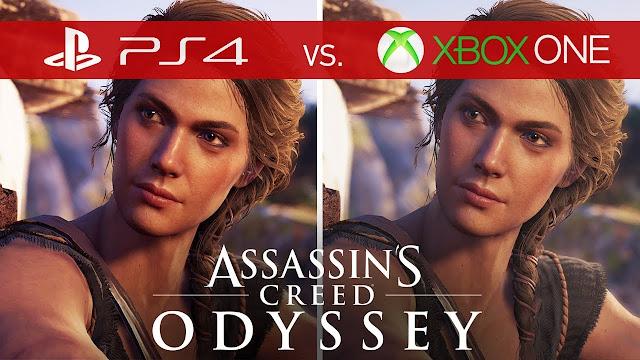 شاهد بالفيديو مقارنة الرسومات للعبة Assassin's Creed Odyssey بين كل من نسخة PS4 و كذلك Xbox One، من تفوق يا ترى ؟