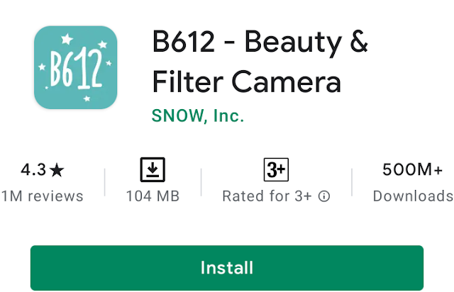 Make your selfie more beautiful with B612 -Free Selfie Camera, Photo Editor & Video App