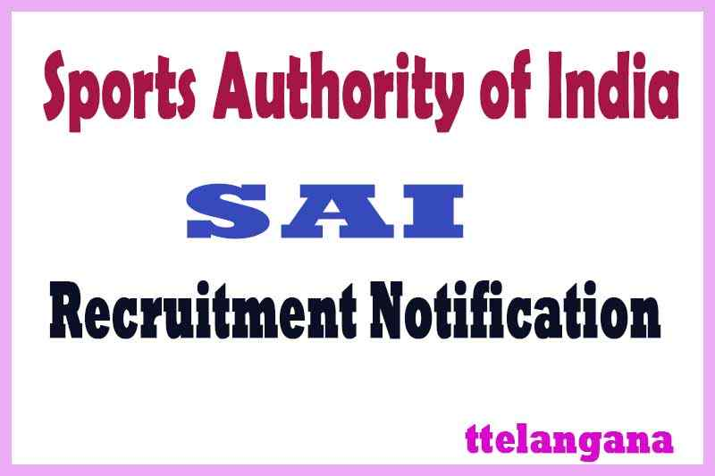 Sports Authority of India SAI Recruitment Notification