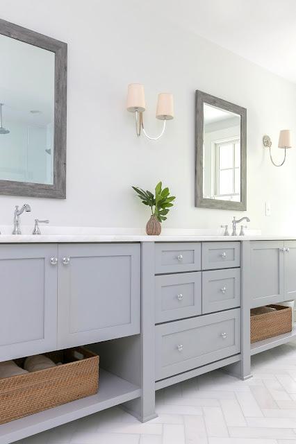 gray grey shaker vanity palmetto bluff long vanity