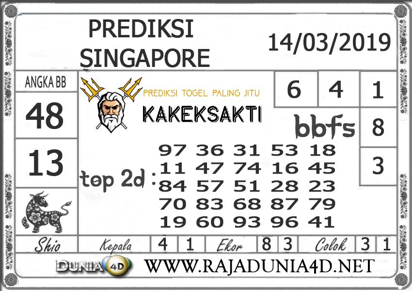 Prediksi Togel SINGAPORE DUNIA4D 14 MARET 2019