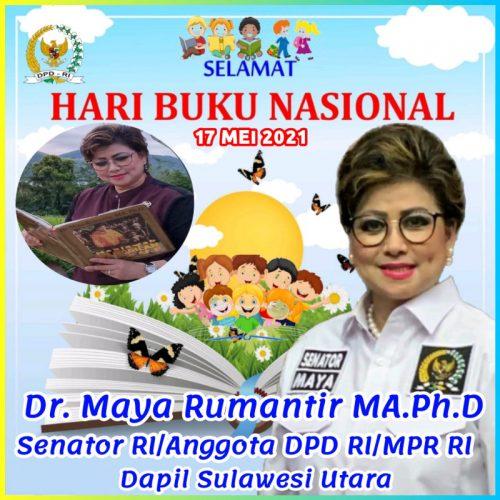 Senator Maya Rumantir Ajak Masyarakat Tumbuhkan Minat Membaca