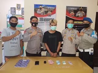 Pengedar Narkoba Jenis Sabu Dan Barang Bukti 13 paket, Berhasil di Amankan Polsek Sukamaju.