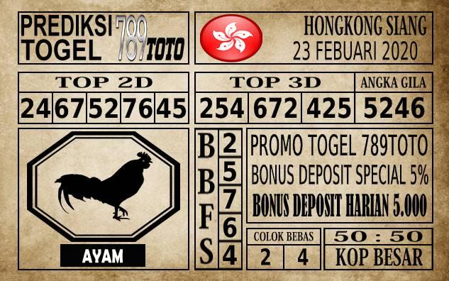 Prediksi Togel JP Hongkong 23 Februari 2020 - Prediksi Togel 789toto