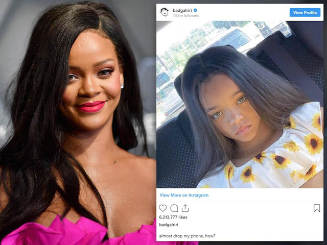 Rihanna Shocked By Six-Year-Old Girl Who Looks Like Her