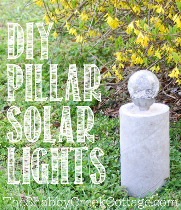Concrete pillars for solar lights - great for moving around outdoors