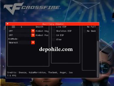 Crossfire WEST NA Auxillary Menu Aim, ESP Hilesi Şubat 2021