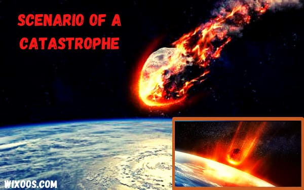 Impact of an asteroid hitting earth: Scenario of a catastrophe