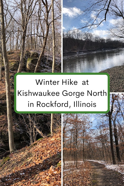 Winter Hike into the Snow Kissed Gorge at Kishwaukee Gorge North Forest Preserve in Rockford, Illinois