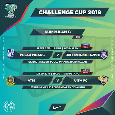 Live Streaming ATM vs Uitm FC Challenge Cup 12.9.2018