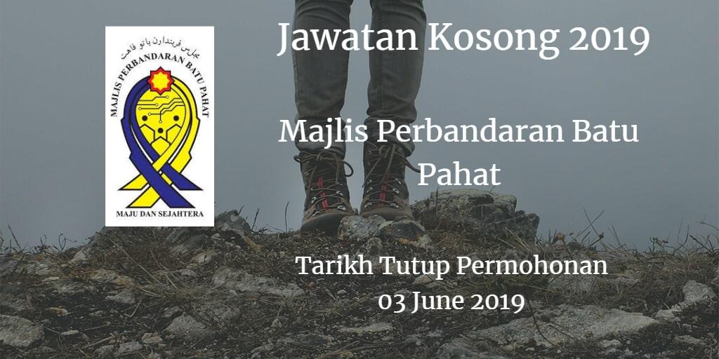 Jawatan Kosong MPBP 03 June 2019