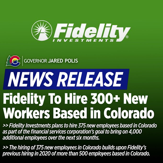 Fidelity Investments is recruiting - Gov Jared Polis