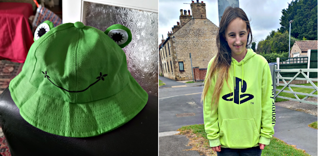 A frog hat and my eldest