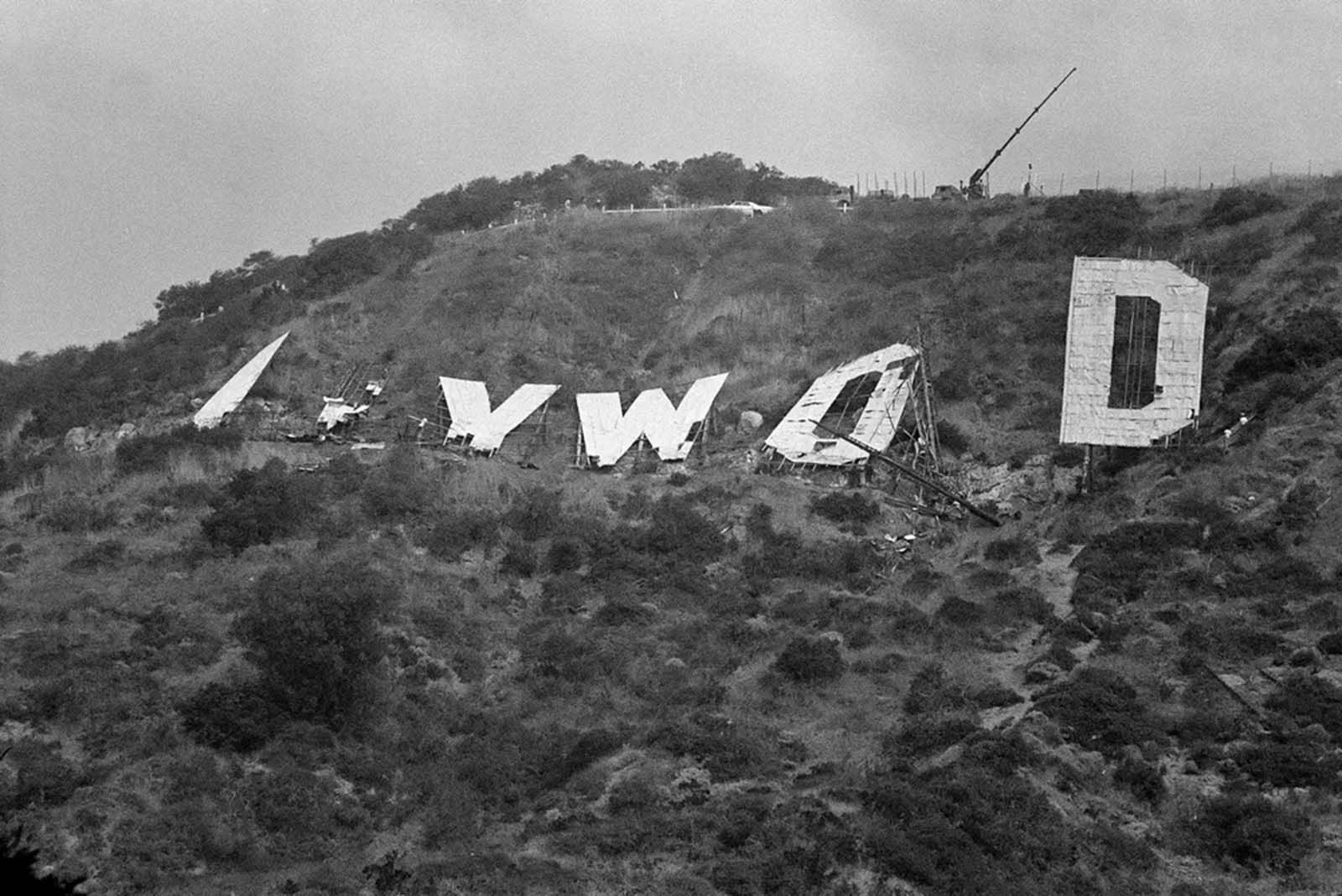 hollywood sign old photographs