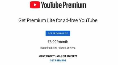 Google is testing YouTube Premium Lite