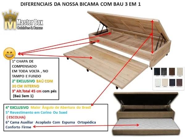 bicama box bau solteiro estrutura