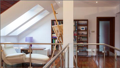 gambar desain mezzanine rumah minimalis modern