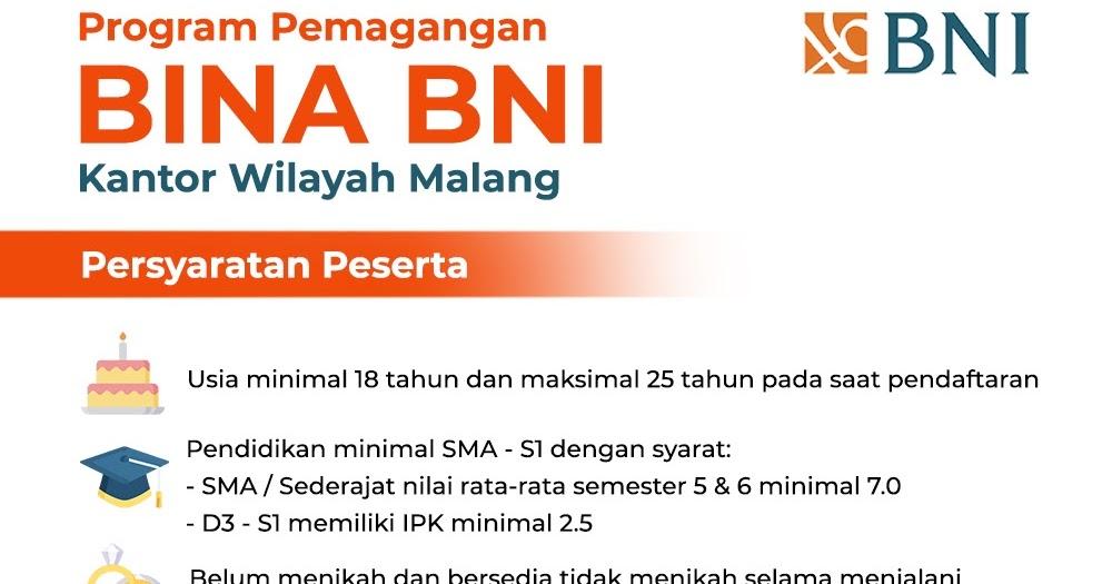 Lowongan Kerja Bina Bank Negara Indonesia Tingkat Sma Smk D3 S1 Oktober 2020 Rekrutmen Lowongan Kerja Bulan Juli 2021