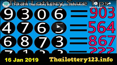 Thai lotto VIP special game tips  Facebook win 16 January 2019