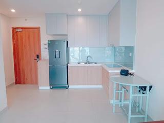 nhà bếp căn hộ 1 phòng ngủ diamond lotus riverside
