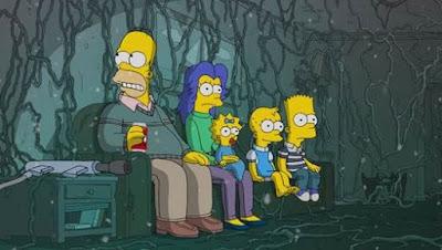 """A família Simpson em clima de """"Stranger Things"""" no episódio """"Treehouse of Horror XXX"""" - Divulgação"""
