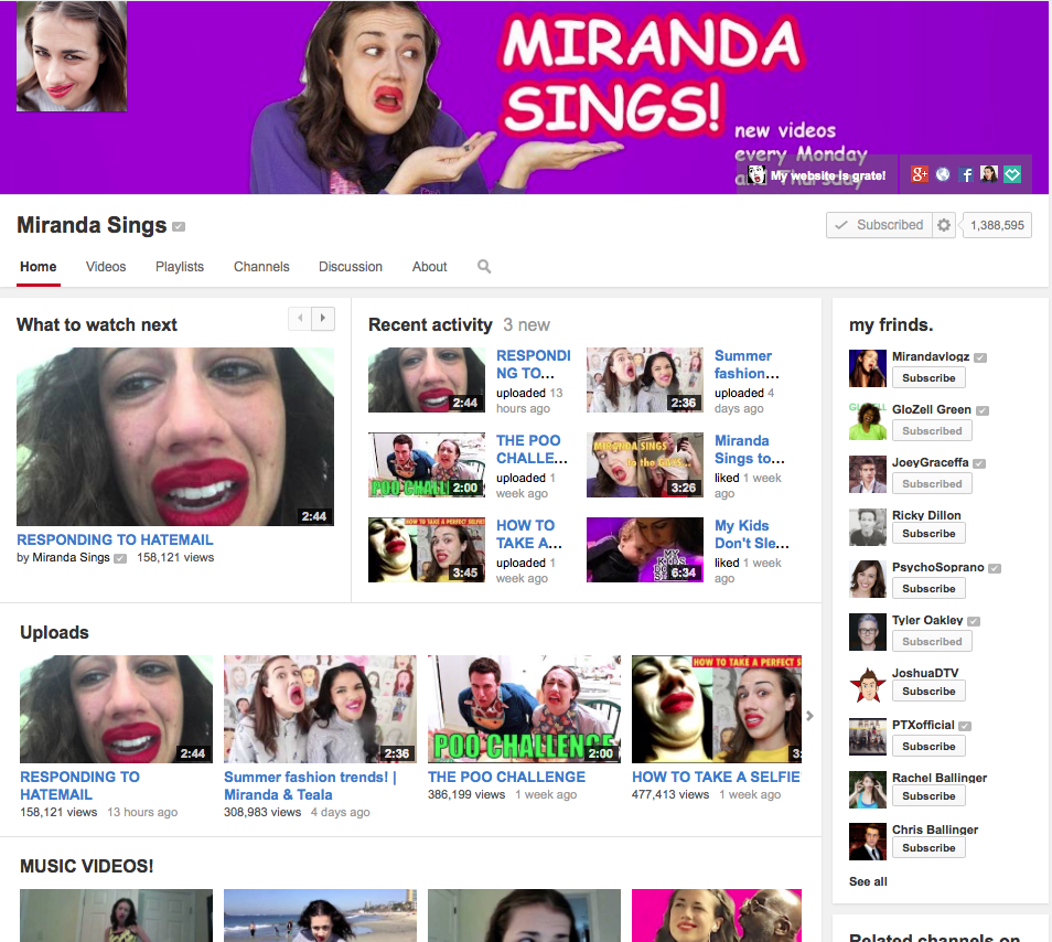 miranda sings home