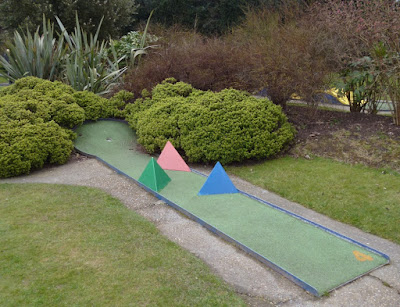 Miniature Golf course at Kelsey Park in Beckenham
