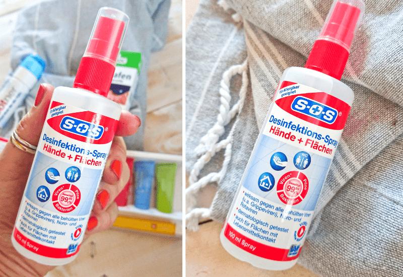 Desinfektionsapray für den Urlaub