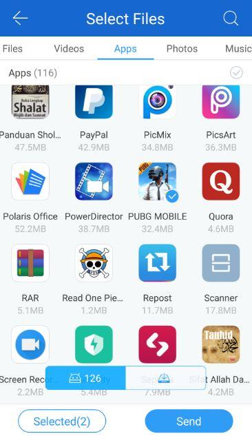 Cara Mengirim PUBG Mobile Lewat Share It