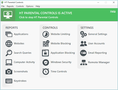 parental controls, time controls, remote reporting
