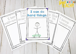 Positive affirmations for a Growth Mindset - Student Response Sheets