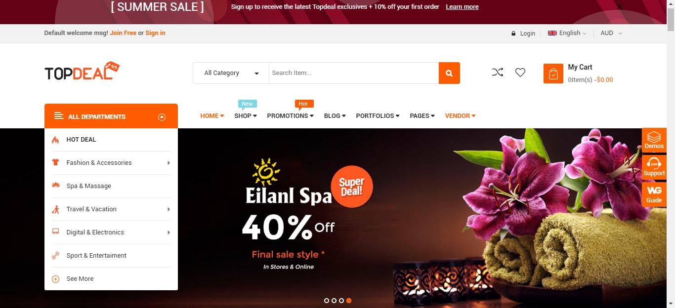 TopDeal -Multi-Vendor Marketplace WordPress Theme