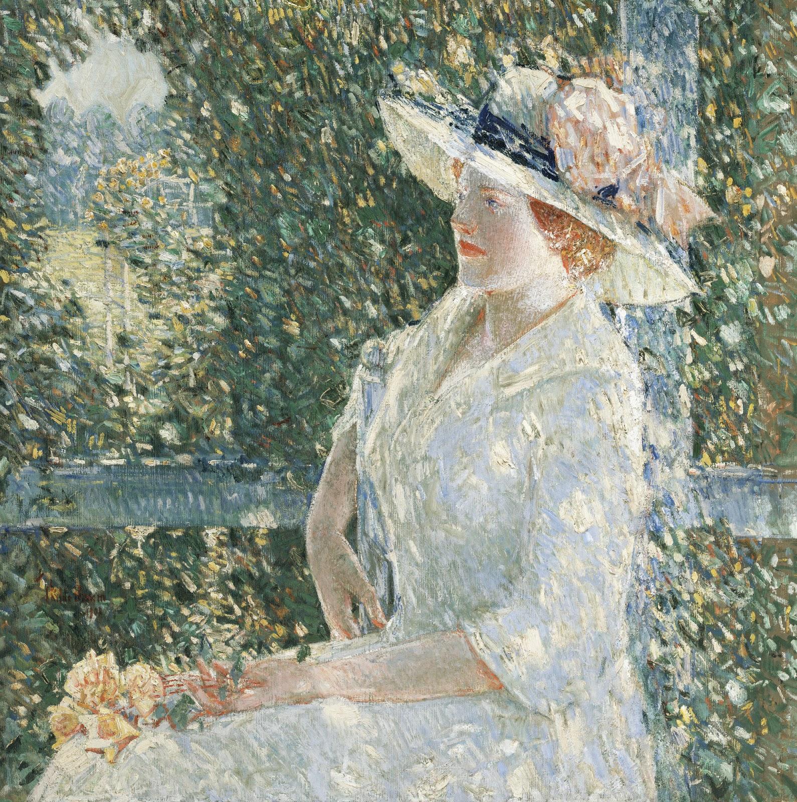 In The Garden Frederick Childe Hassam Great American Art C.1892