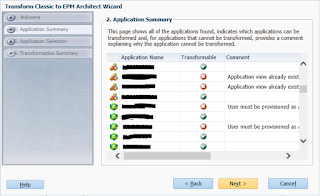 EPMA: Transform Classic to EPM Architect Wizard communication error
