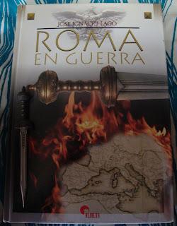 Portada del libro Roma en guerra, de José Ignacio Lago