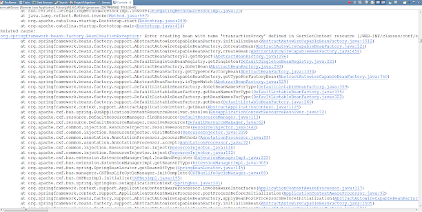 Solving org.springframework.beans.factory.BeanCreationException: Error creating bean with name X [Java Spring]