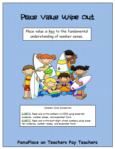 http://www.teacherspayteachers.com/Product/Place-Value-Wipe-Out-with-Common-Core-Connection-244025