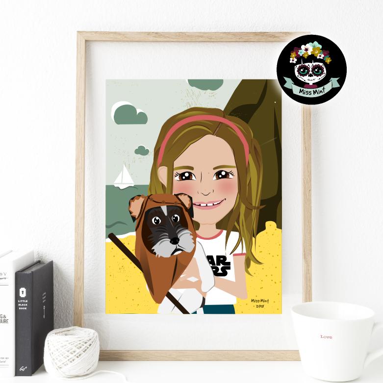 ilustraciones personalizadas para primera comunión miss mint