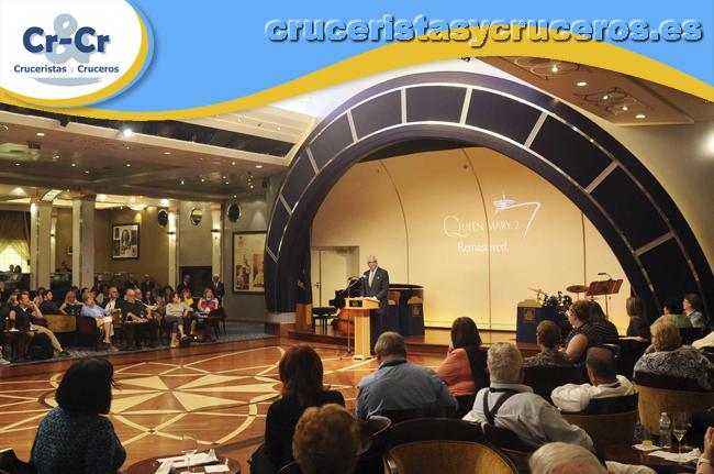 ► Cunard Line contará con conferencias de prestigio a bordo de sus barcos