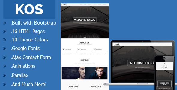 Premium One Page Portfolio theme