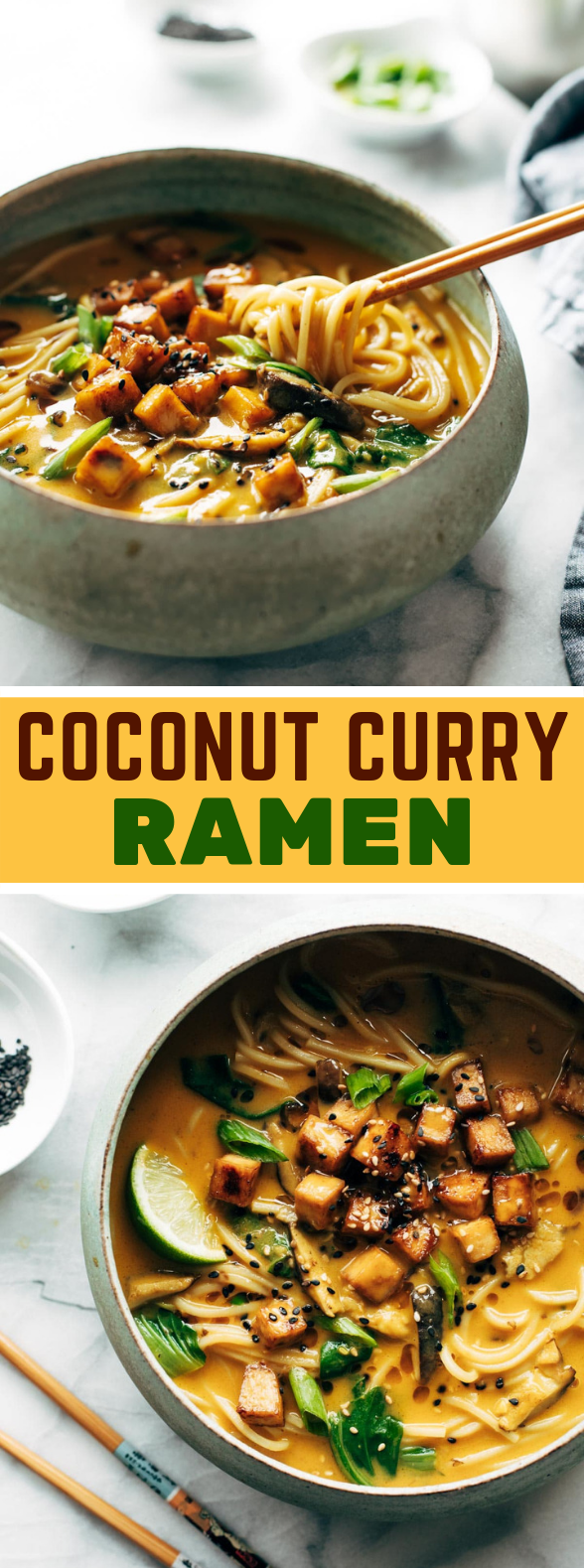 Coconut Curry Ramen #vegetarian #veggies