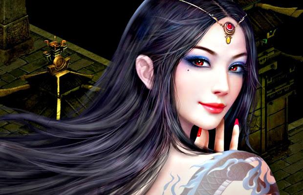 Beautiful Fantasy Girl Face Expression Digital Art